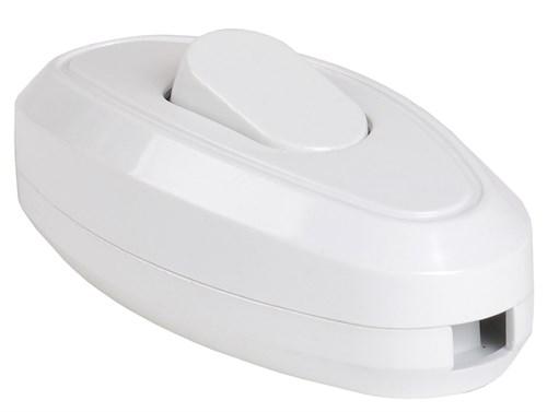 Выключатель 1-клавишный разборный для бра ВБ-01Б белый IEK - фото 108356
