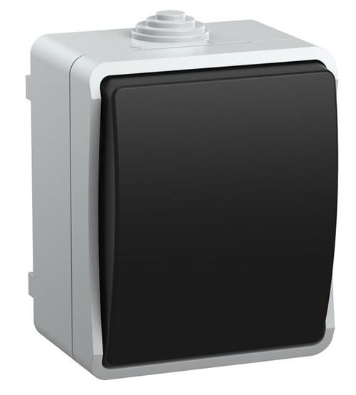 Выключатель 1-клавишный для открытой установки ВС20-1-0-ФСр ФОРС IP54 IEK - фото 53871