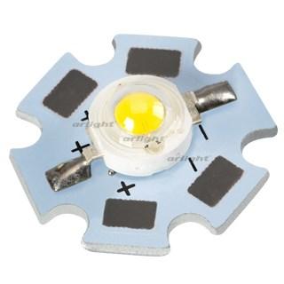 Мощный светодиод ARPL-Star-1W-EPS33 White (ARL, STAR type) - фото 54739