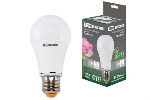 TDM Лампа светодиодная А60 - 7 Вт-220 В -4000 К–E27  - фото 54886