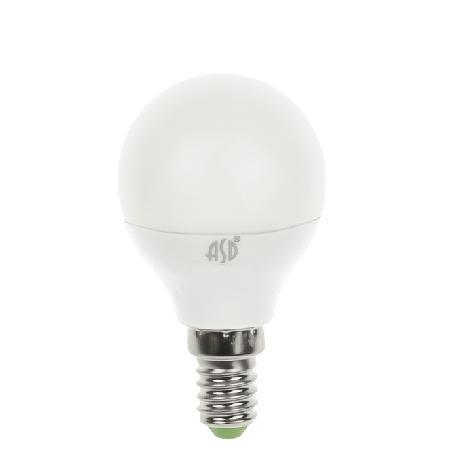 Лампа светодиодная LED-ШАР-standard 3.5Вт 230В Е14 3000К 320Лм ASD - фото 55153