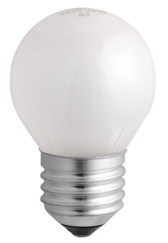 Лампа накаливания ШАР P45 60Вт 230В Е27 матовый 630Лм ASD - фото 55265
