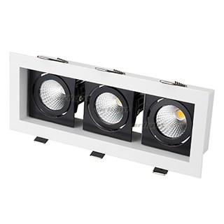Светильник CL-KARDAN-S260x102-3x9W White (WH-BK, 38 deg) (ARL, IP20 Металл, 3 года) - фото 55378