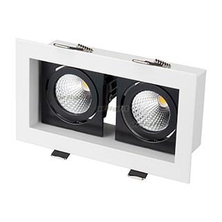 Светильник CL-KARDAN-S180x102-2x9W White (WH-BK, 38 deg) (ARL, IP20 Металл, 3 года) - фото 55388