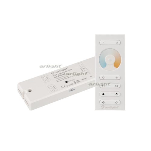 Контроллер SR-2839MIX White (12-24V, 2x5A, ПДУ) (ARL, IP20 Пластик, 1 год) - фото 55440