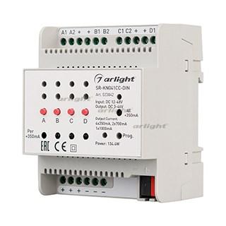 Контроллер тока SR-KN041CC-DIN (12-48V, 4x350/700mA) (ARL, -) - фото 55831