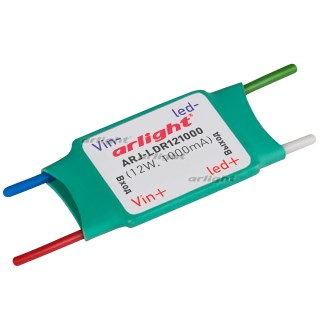 Блок питания ARJ-LDR121000 (12W, 1000mA) (Arlight, IP20 Пластик, 2 года) - фото 58224