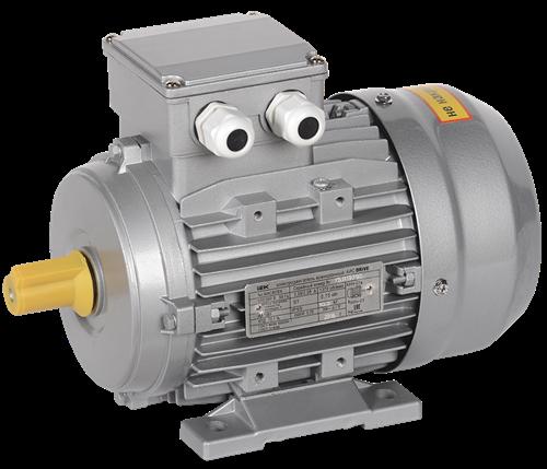 Электродвигатель асинхронный трехфазный АИС 90L2 380В 2,2кВт 3000об/мин 1081 DRIVE IEK - фото 58307