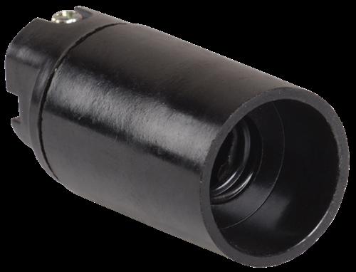 Патрон подвесной Пкб14-04-К01 карболитовый Е14 черный (индивидуальный пакет) IEK - фото 59264