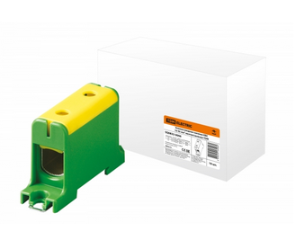 Клемма вводная силовая КВС 16-95 кв.мм. желтая/зеленая TDM SQ0833-0006 - фото 59415