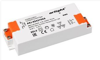 Блок питания ARJ-KE43700A (30W, 700mA, PFC) (Arlight, IP20 Пластик, 5 лет) - фото 59465