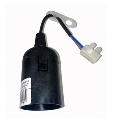 Патрон подвесной с шнуром Ппл27-04-К52 пластик Е27 черный (50шт) (стикер на изделии) IEK - фото 59766