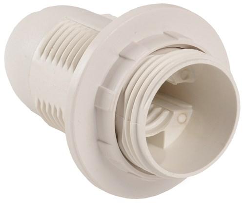 Патрон с кольцом Ппл14-02-К12 пластик Е14 белый (50шт) (стикер на изделии) IEK - фото 59769