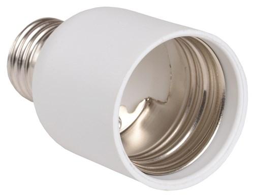 Переходник Е27-Е40 ПР27-40-К02 пластик белый (индивидуальный пакет) IEK - фото 59771