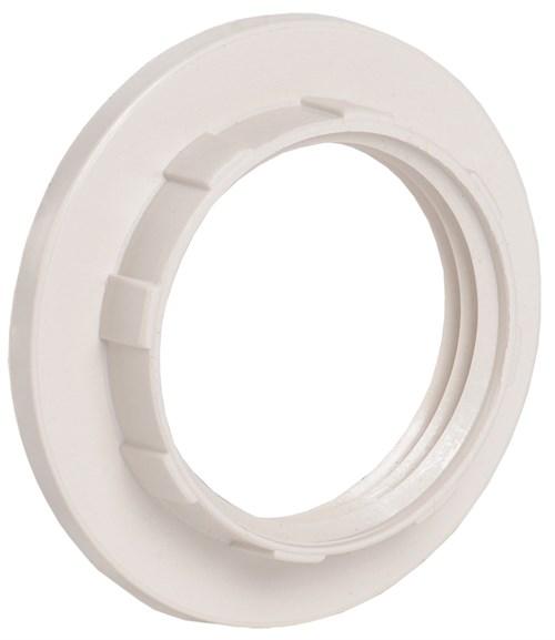 Кольцо абажурное КП14-К02 к патрону Е14 пластик белый (индивидуальный пакет) IEK - фото 59776
