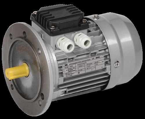 Электродвигатель асинхронный трехфазный АИР 56B2 380В 0,25кВт 3000об/мин 3081 DRIVE IEK - фото 59833