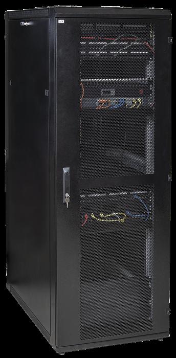 ITK Шкаф серверный 19  LINEA S 42U 800х1000мм перфорированные передняя и задняя двери черный (место 3 из 3) - фото 59875