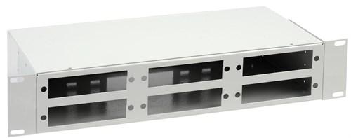 ITK 2U Оптический распределительный кросс до 48 портов (без планок, под 8п-6шт) - фото 59896