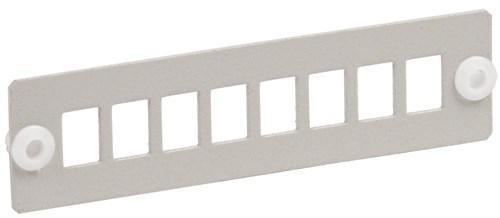 ITK Панель для 8-ми оптических адаптеров (SC или LC-Duplex в 19  кросс) - фото 59898
