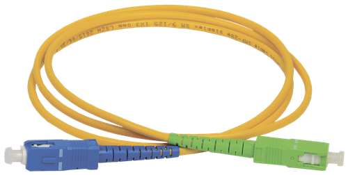 ITK Оптический коммутационный переходной шнур (патч-корд), SM, 9/125 (OS2), SC/UPC-SC/APC, (Simplex), 3м - фото 59928
