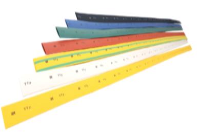 Трубка термоусаживаемая ТТУ 1/0,5 желто-зеленая (1м) IEK - фото 59979