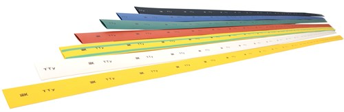 Трубка термоусаживаемая ТТУ 20/10 желтая (1м) IEK - фото 60013