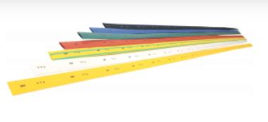 Трубка термоусаживаемая ТТУ 22/11 желто-зеленая (1м) IEK - фото 60030