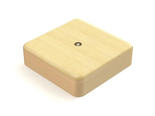 Коробка распаячная КР 75х75х20 ОП сосна IP40, инд. штрихкод TDM SQ1401-0403 - фото 60330