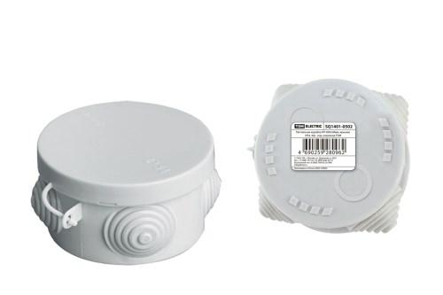 Коробка расп. ОП D85х40 IP54 4 ввода (штрихкод) TDM SQ1401-0502 - фото 60340