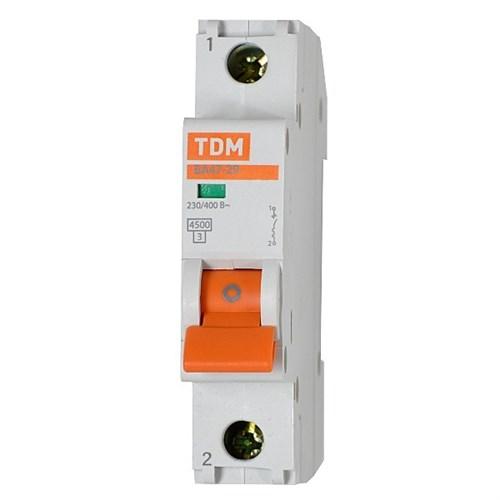 Выкл. автомат.  1П   4А  хар-ка C  4,5кА  TDM  ВА47-29 - фото 60531