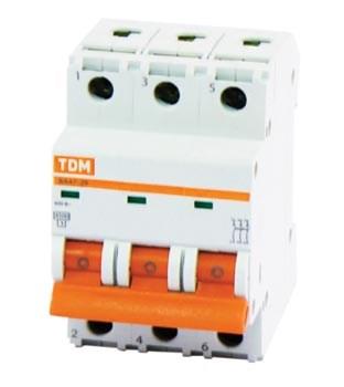 Выкл. автомат.  3П  16А  хар-ка C  4,5кА  TDM  ВА47-29 - фото 60572