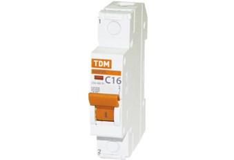 Выкл. автомат.  1П   6А  хар-ка D  4,5кА  TDM   ВА47-29 SQ0206-0137 - фото 60663