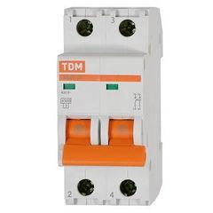 Выкл. автомат.  2П  40А  хар-ка D  4,5кА  TDM  ВА47-29 SQ0206-0161 - фото 60686