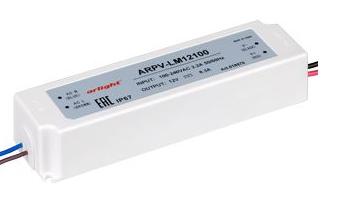 Блок питания ARPV-LV12100-A (12V, 8.3A, 100W) (ARL, IP67 Пластик, 3 года) - фото 61186