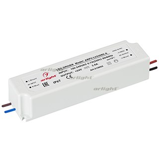 Блок питания ARPV-LV24060-A (24V, 2.5A, 60W) (ARL, IP67 Пластик, 3 года) - фото 61190