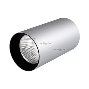 Светильник накладной SP-POLO-R85-1-15W Day White 40deg (Silver, Black Ring) (ARL, IP20 Металл, 3 года) - фото 61709
