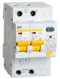 Дифференциальный автоматический выключатель АД12М 2Р С16 30мА IEK - фото 61907