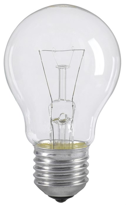 Лампа накаливания A55 шар прозрачная 40Вт E27 IEK - фото 62059