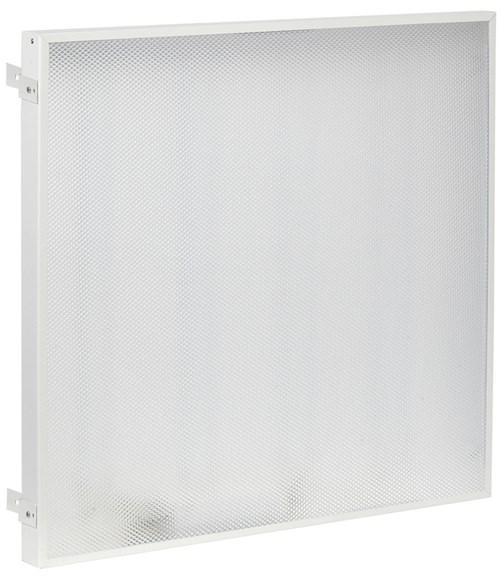 Светильник светодиодный ДВО 404045-MP PRO Грильято 40Вт 4500К 588х588х45мм призма IEK - фото 62060