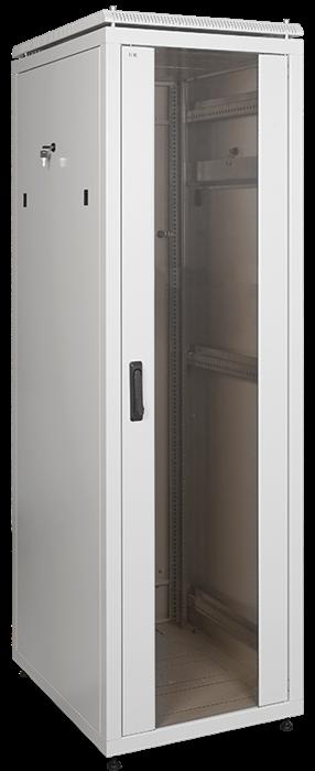 ITK Шкаф сетевой напольный 19  LINEA N 47U 600х800мм стеклянная передняя дверь серый - фото 62141