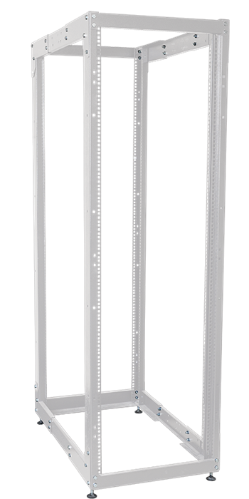 ITK Стойка открытая монтажная двухрамная LINEA F 37U 600x800мм с регулируемой глубиной серая - фото 62149