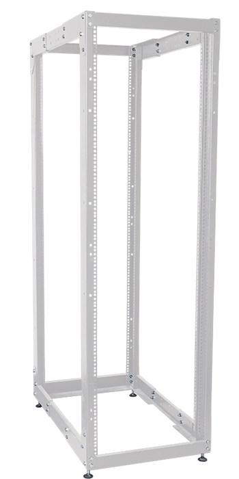 ITK Стойка открытая монтажная двухрамная LINEA F 42U 600x800мм с регулируемой глубиной серая - фото 62150