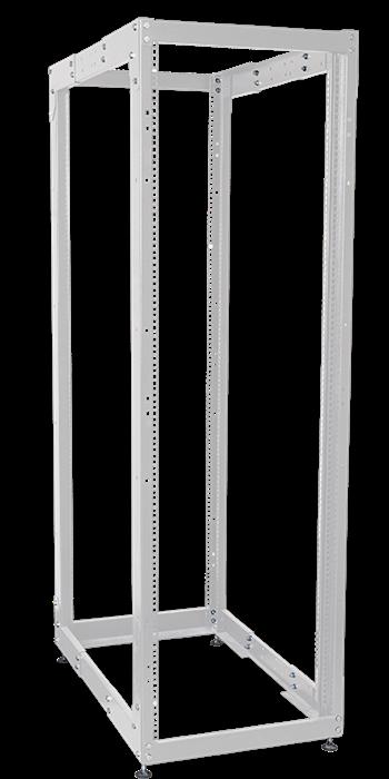 ITK Стойка открытая монтажная двухрамная LINEA F 45U 600x800мм с регулируемой глубиной серая - фото 62151