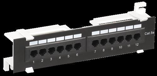 ITK настенная патч-панель кат.5E UTP 12 портов (Dual IDC) - фото 62170
