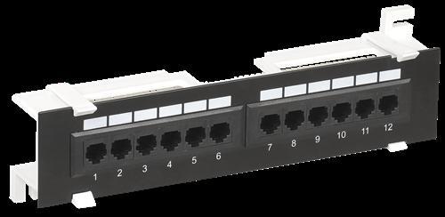 ITK настенная патч-панель кат.6 UTP 12 портов (Dual) - фото 62171
