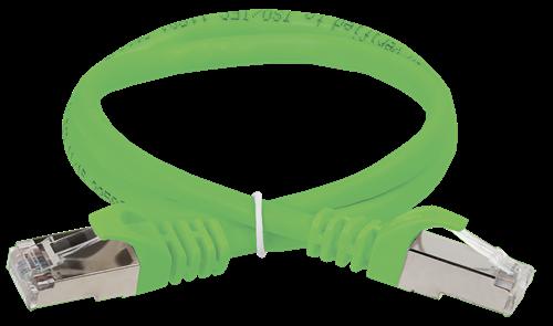 ITK Коммутационный шнур (патч-корд) кат.5E FTP 0,5м зеленый - фото 62178