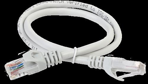 ITK Коммутационный шнур (патч-корд) кат.5E UTP LSZH 1,5м серый - фото 62186
