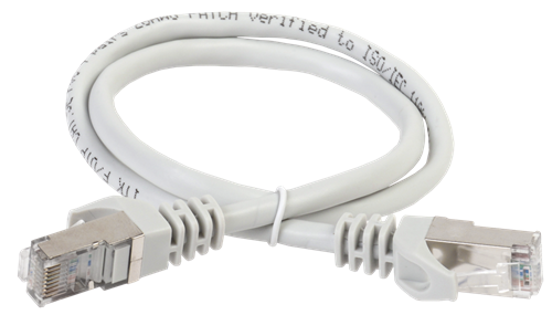 ITK Коммутационный шнур (патч-корд) кат.5E FTP LSZH 1,5м серый - фото 62189