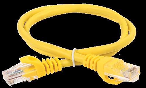 ITK Коммутационный шнур (патч-корд) кат.5E UTP 3м желтый - фото 62195