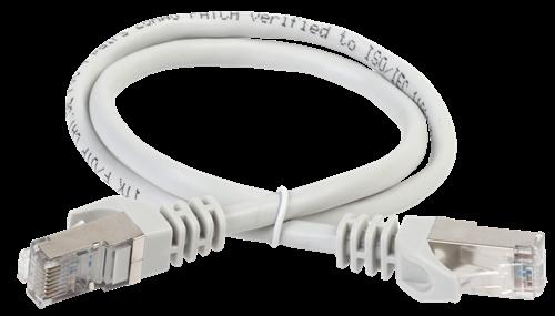 ITK Коммутационный шнур (патч-корд) кат.6А S/FTP LSZH 2м серый - фото 62218